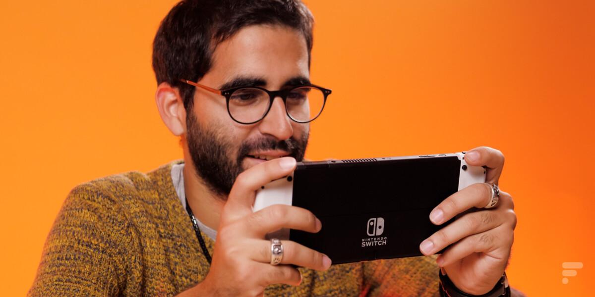 Nintendo Switch OLED en utilisation