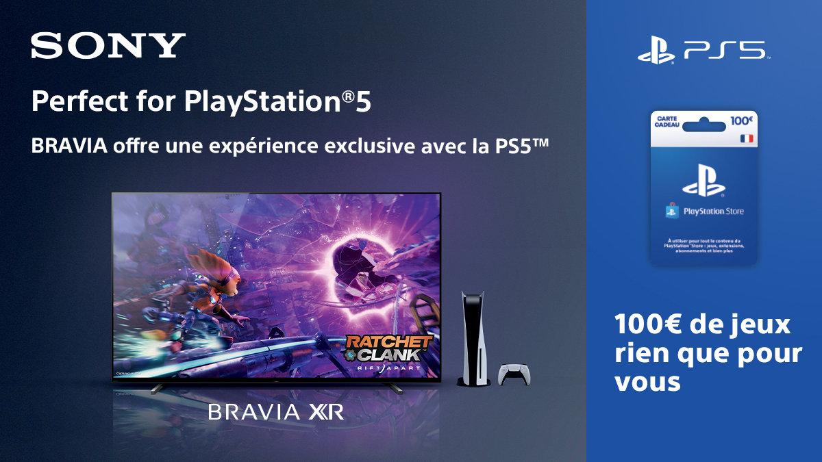 Pour l'achat d'un TV Bravia XR, Sony vous offre un cadeau à utiliser sur le PlayStation Store