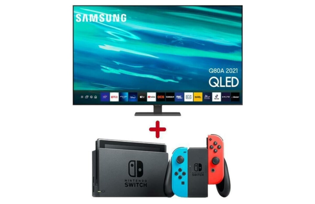 La Nintendo Switch est offerte avec la TV 4K QLED 65 pouces de Samsung
