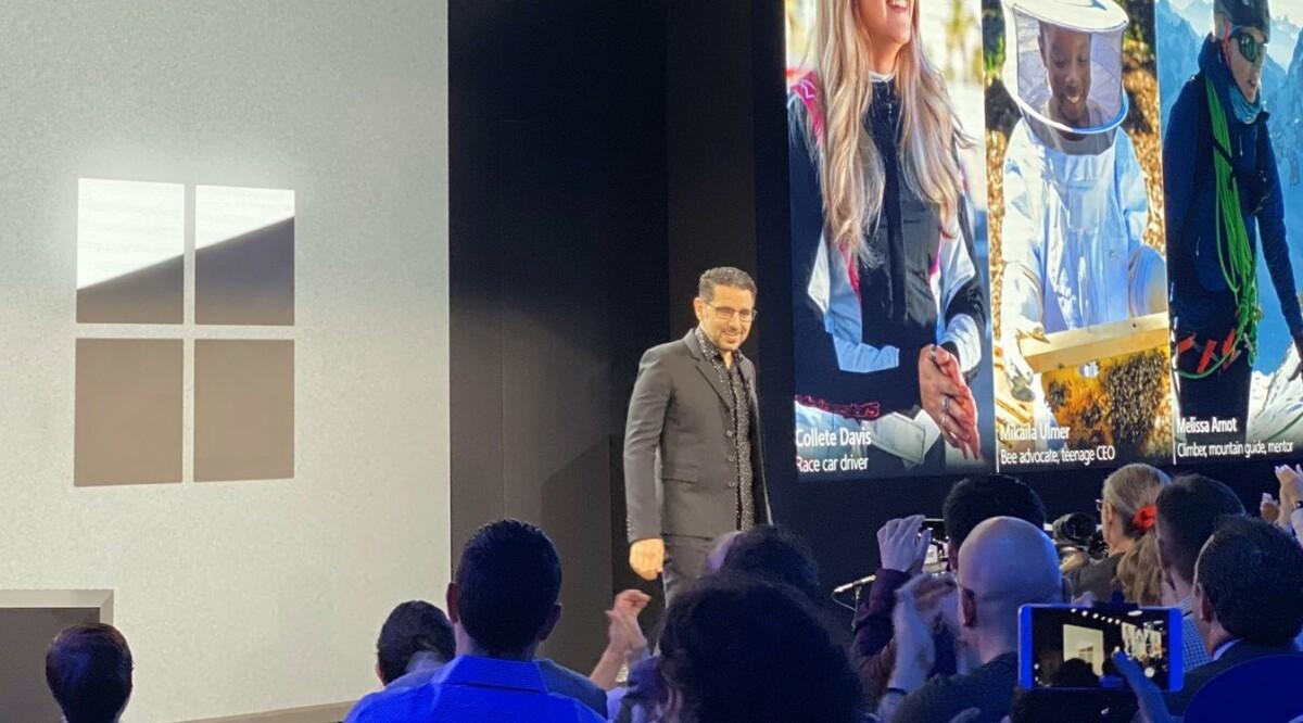 Panos Panos lors de la conférence Surface à New York (2019)