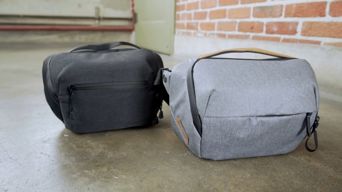 Auszug aus dem humorvollen Video von Peak Design, das Amazon vorwirft, seine Tasche kopiert zu haben.