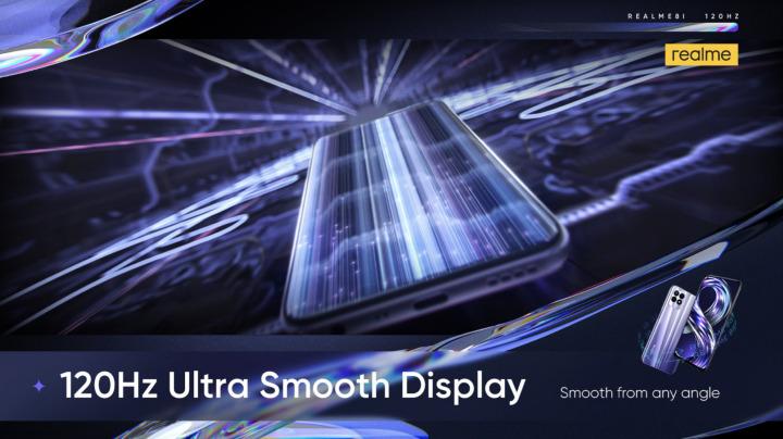 Le Realme 8i a un écran 120 Hz