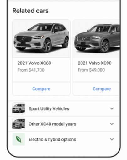 Google met en avant les options électriques et hybrides pour les voitures