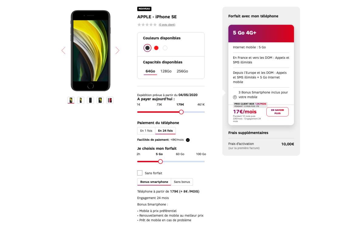 Comment trouver l'iPhone SE 2020 à prix réduit avec un bon forfait mobile